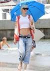 Gwen Stefani - At the beach in Long Beach -10