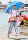 Gwen Stefani - At the beach in Long Beach -17