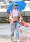 Gwen Stefani - At the beach in Long Beach -19