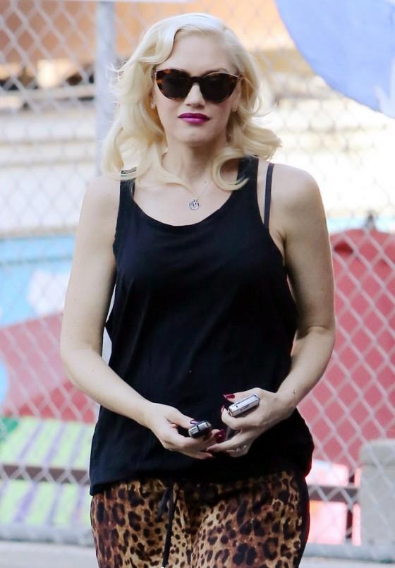 Gwen Stefani - In leopard print out in Los Angeles -03