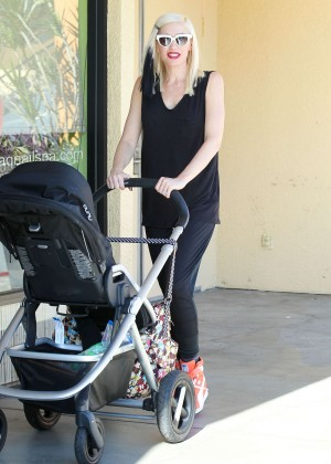 Gwen Stefani with Family out in Studio City