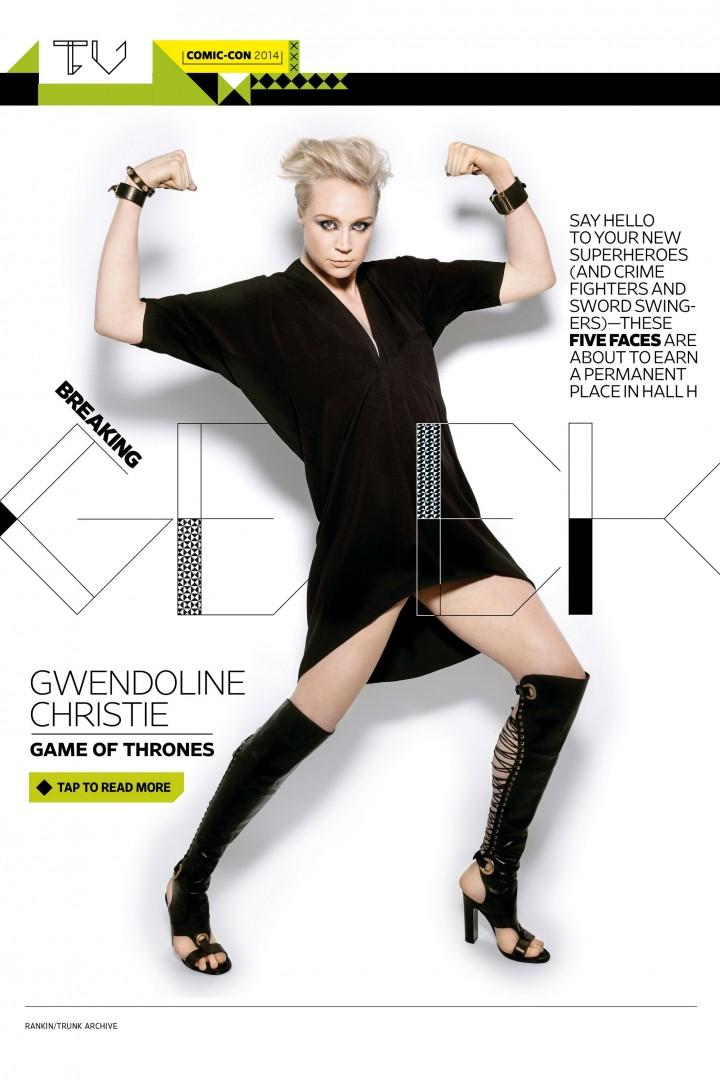 Gwendoline Christie: Entertainment Weekly 2014 -01
