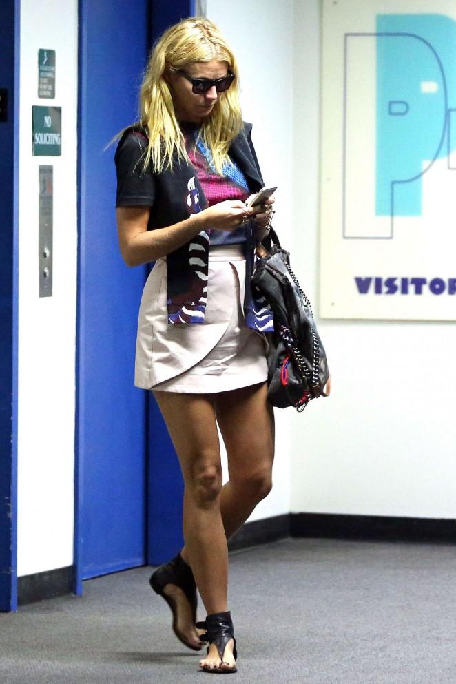 Gwyneth Paltrow in Mini Skirt out in LA