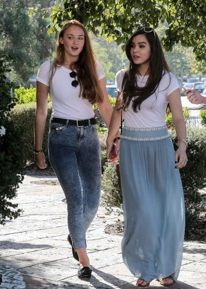 Hailee Steinfeld & Sophie Turner out in Malibu