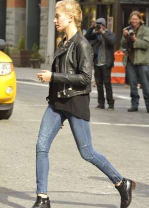 Hailey Baldwin in Tight Jeans out in New York City