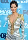 Halle Berry with lovely braless cleavage attends 42nd NAACP Image Awards