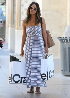 Halle Berry in Long Dress out Shopping in LA