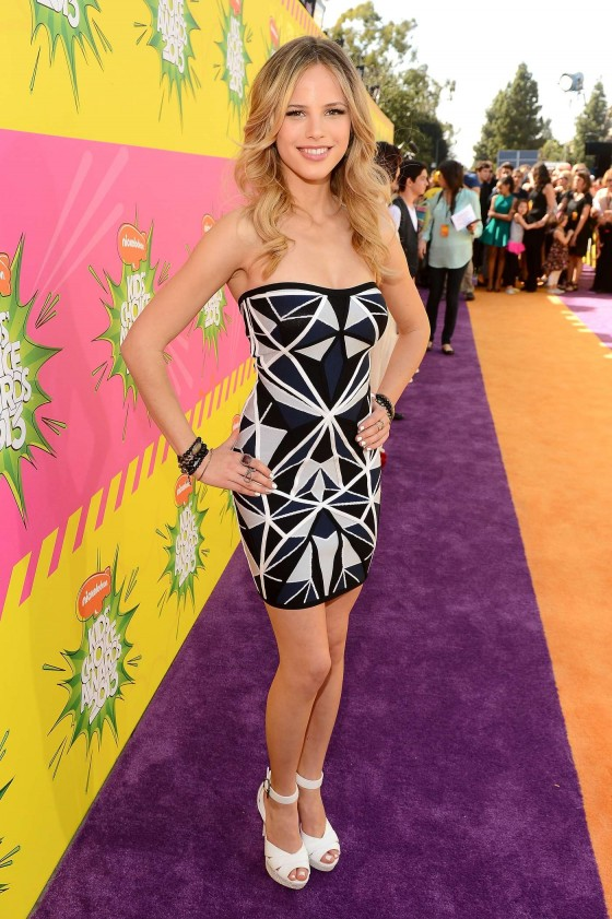 Halston Sage – 2013 Kids Choice Awards -07