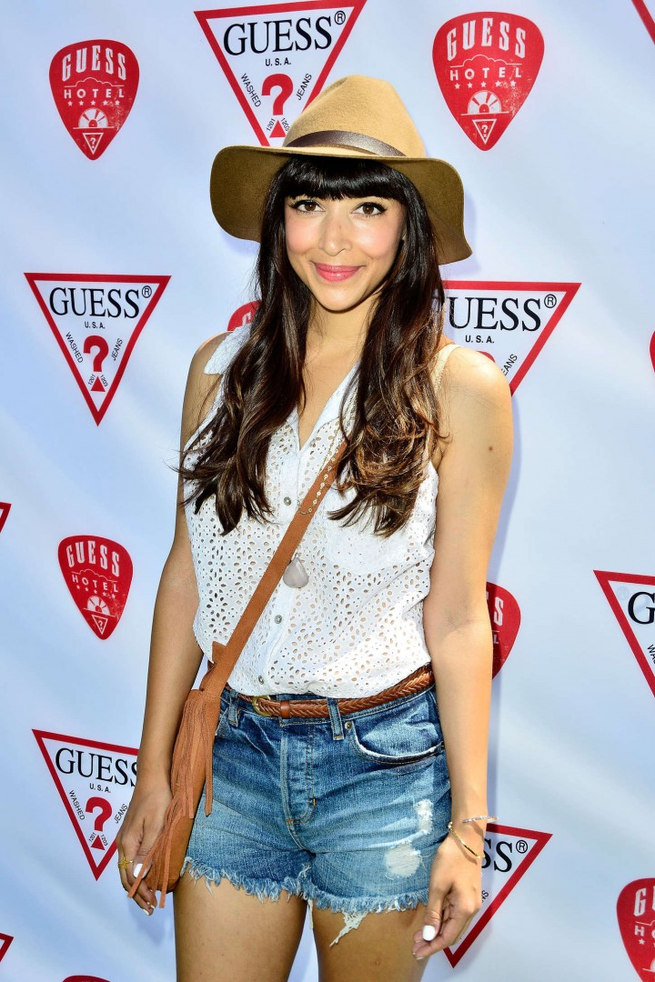 Hannah Simone Coachella 2014 – GUESS Hotel at the Viceroy in Palm Springs