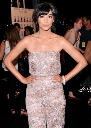 Jamie Chung - Monique Lhuillier Fashion Show in NY