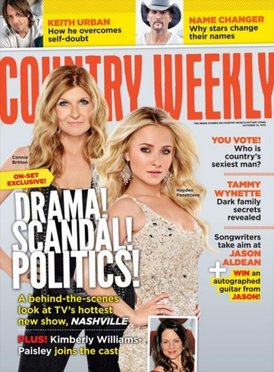 Hayden Panettiere and Connie Britton - Country Weekly Magazine