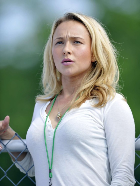 Hayden Panettiere - at the New York Jets Practice in Cortland