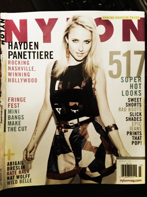 Hayden Panettiere - Cover Nylon Magazine - March 2013-01