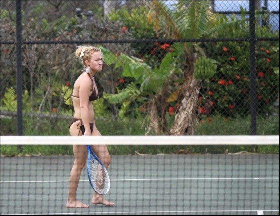 Hayden Panettiere – In a Bikini Playing Tennis and Basketball In Hawaii-03