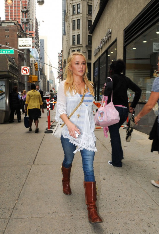Hayden Panettiere – In a tight jeans and boots in New York City