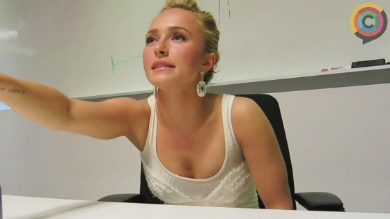 Hayden Panettiere - Looking hot at Interview for Canadacom