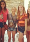 Hayden Panettiere shows her legs in denim shorts at Green Hills Mall in Nashville