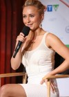 Hayden Panettiere Hot in White Tight Dress at CTV Upfront in Toronto-15