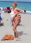 Hayden Panettiere - Wearing a bikini on the beach in Miami -12