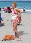 Hayden Panettiere - Wearing a bikini on the beach in Miami -26