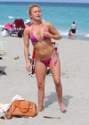 Hayden Panettiere - Wearing a bikini on the beach in Miami -27
