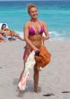 Hayden Panettiere - Wearing a bikini on the beach in Miami -51