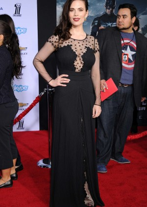Hayley Atwell - Captain America: The Winter Soldier Premiere -06