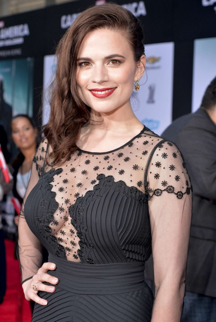Hayley Atwell - Captain America: The Winter Soldier Premiere -09