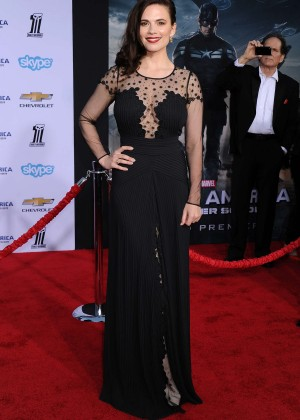 Hayley Atwell - Captain America: The Winter Soldier Premiere -11