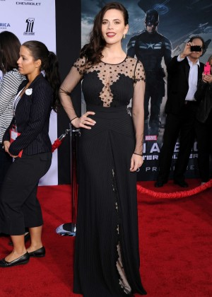 Hayley Atwell - Captain America: The Winter Soldier Premiere -12