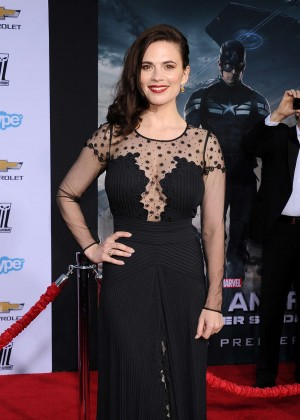 Hayley Atwell - Captain America: The Winter Soldier Premiere -15