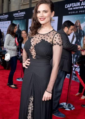 Hayley Atwell - Captain America: The Winter Soldier Premiere -17