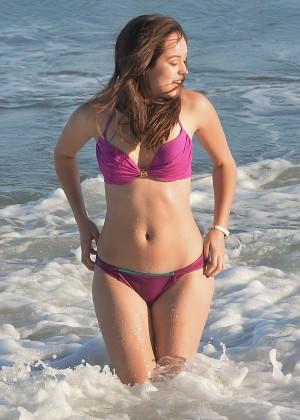 Hayley Orrantia - In a bikini at the beach in Los Angeles -09