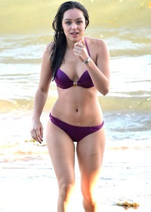 Hayley Orrantia - In a bikini at the beach in Los Angeles