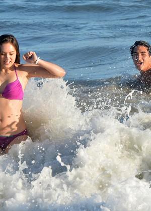 Hayley Orrantia - In a bikini at the beach in Los Angeles -11
