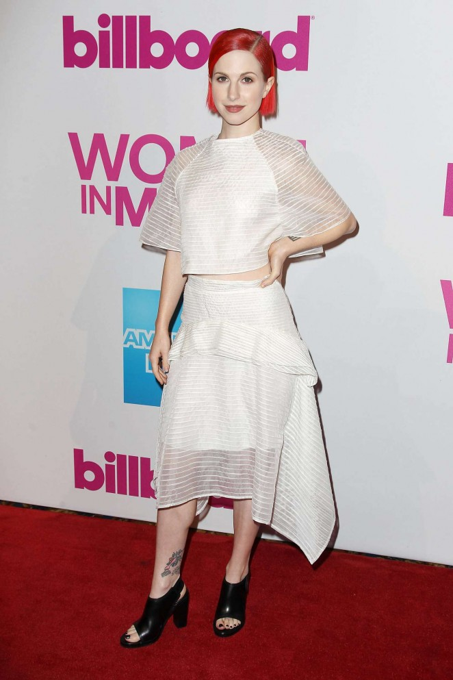 Hayley Williams – Billboard Women In Music Luncheon 2014 in NYC