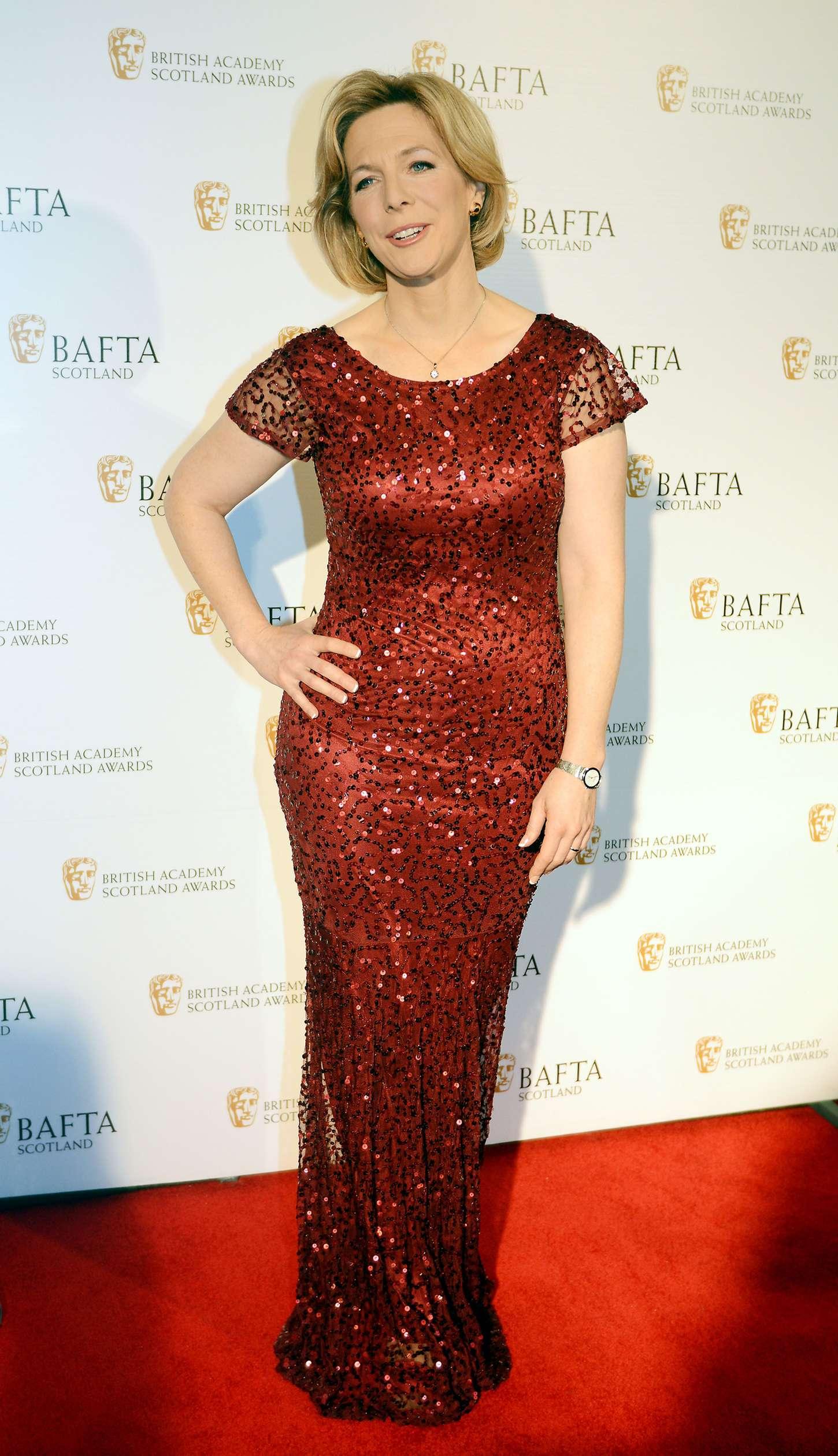 Hazel Irvine: Scottish BAFTA Awards 2014 -01