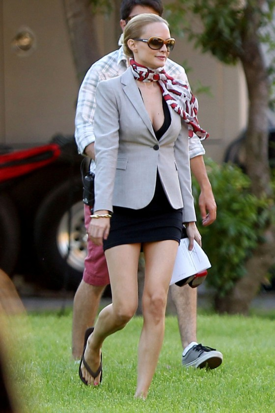 Heather Graham hot on the set of Feed The Dog in Los Angeles
