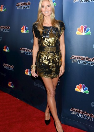 Heidi Klum - America's got Talent Post Show in NY