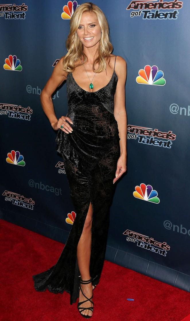 "Heidi Klum - ""America's Got Talent"" Season 9 Finale Red Carpet Event in New York City"