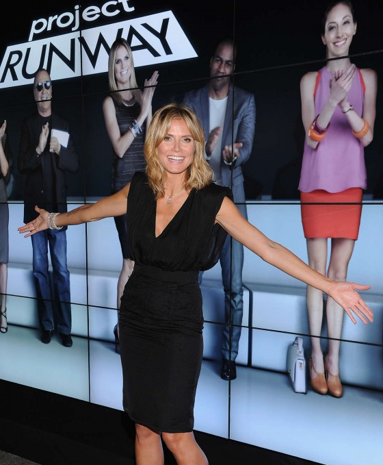 Heidi Klum - in a short dress at 10th Anniversary Party of Project Runway at Highline in New York City