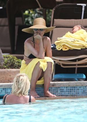 Heidi Klum Bikini Photos: 2014 in Bahamas -11