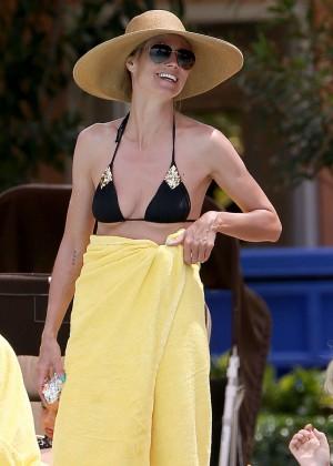 Heidi Klum Bikini Photos: 2014 in Bahamas -13