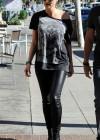 Heidi Klum in Leather Pants -04