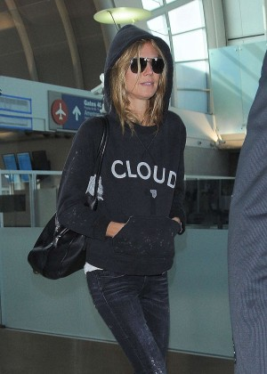 Heidi Klum in Jeans at LAX airport in LA