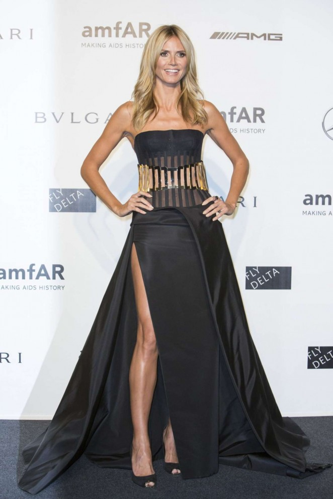 Heidi Klum - Milan Fashion Week amfAR Gala in Italy