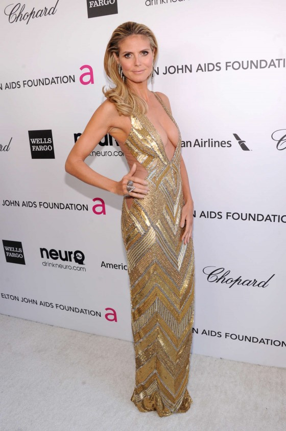 Heidi Klum – 2013 Elton John AIDS Foundation Academy Awards Party -01