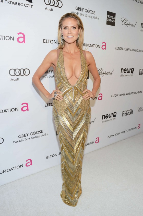 Heidi Klum – 2013 Elton John AIDS Foundation Academy Awards Party -02
