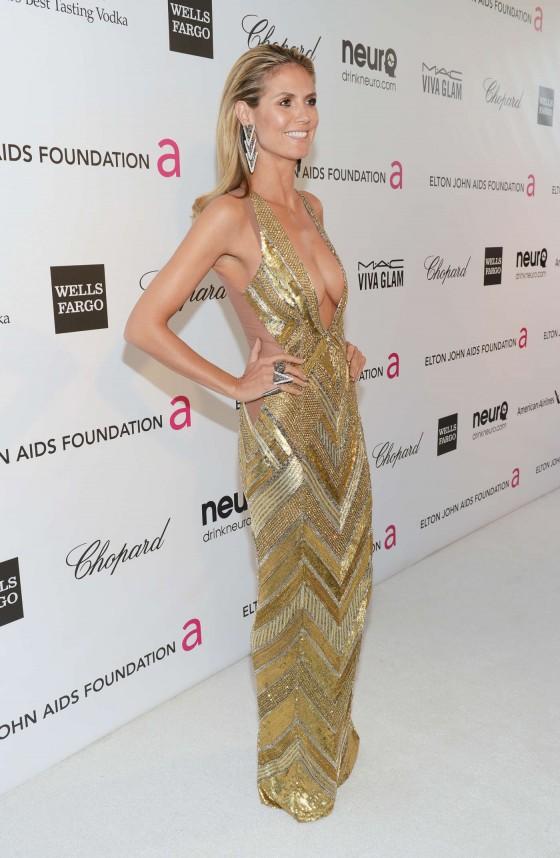 Heidi Klum – 2013 Elton John AIDS Foundation Academy Awards Party -03