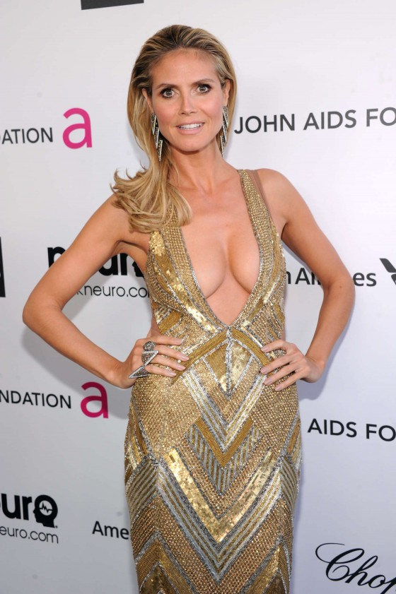 Heidi Klum – 2013 Elton John AIDS Foundation Academy Awards Party -05